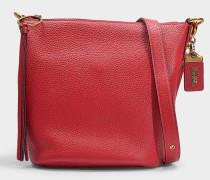 Handtasche Duffle aus rotem Kalbsleder