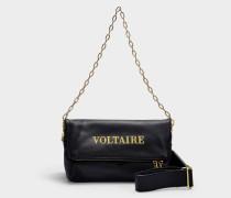 Tasche Rocky Voltaire aus schwarzem Kalbsleder