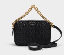 Handtasche  Cometa S Crossbody aus schwarzem Leder