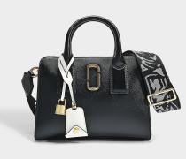 Handtasche Little Big Shot aus Kalbsleder mit Polyurethan Beschichtung Schwarz und Blassrosa