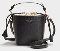 Bucket Bag Pippa Cameron Street aus schwarzem Kalbsleder