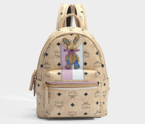 Rabbit Mini Backpack in beige sandfarben