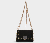 Handtasche Lockett Mini aus schwarzer Baumwolle