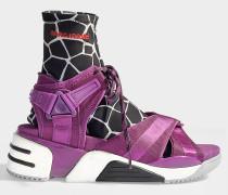 Sandalen Sport Somewhere mit Socken aus Polyester in der Farbe Rhabarber