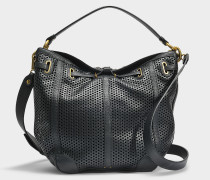 Tanguy M Tasche aus schwarzem perforiertem Kalbsleder