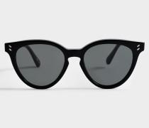 Bio-injected Sonnenbrille aus schwarzem Bio-Acetat
