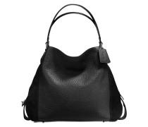 Edie 42 Shoulder Bag aus schwarzem Kalbsleder
