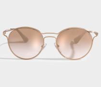 Cinema Sonnenbrille aus rosanem Metall und Acetat