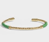 Armband Soho aus smaragdgrünem, vergoldetem Messing