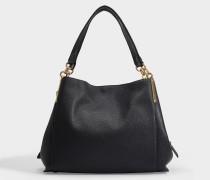 Handtasche Dalton 31 aus schwarzem Leder