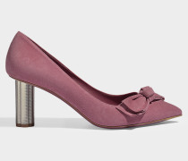 Pumps Garlate Bow aus rosa Samt