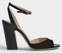 Miranda 100 suede and patent sandals
