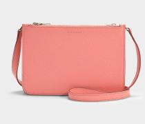 Handtasche Penhurst aus korallfarbenem Ziegenleder