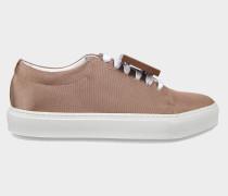 Adriana Netzstoff Sneaker in geflochtener Kupferoptik aus Leder