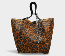 Kleiner Shopper Roxy aus Haircalf mit Leoprint