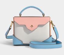 Handtasche Micro Bold Combo aus pflanzlichem Kalbsleder in Bunt