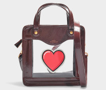 Handtasche Rainy Day Heart aus Synthetikmaterial in Bordeauxrot