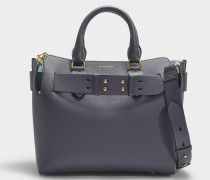 The Small Belt Bag in Charcoal Grey Calfskin