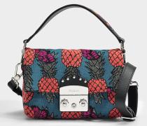 ropolis Nuvola Mini Crossbody Tasche aus mehrfarbigem Kalbsleder