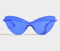 Maison Margiela Runway Sonnenbrille aus blauem Acetat