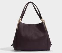 Handtasche Dalton 31 aus bordeaux-rotem Leder