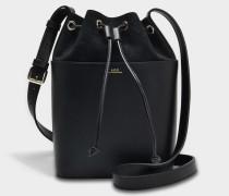 Clara Tasche aus schwarzem glänzend und Nubuk Kalbsleder
