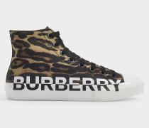 Sneakers Larkhall Leo High aus brauner Baumwolle