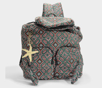 See by Chloé Joy Rider Large Backpack aus Eclipse grünem Material