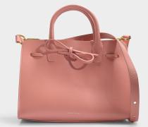 Handtasche Mini Sun aus Kalbsleder Blush