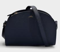 Tasche Demi-Lune aus marineblauem Saffianoleder