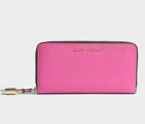 Portemonnaie Standard Continental aus rosa Kalbsleder