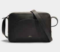 Handtasche Coco aus schwarzem Kalbsleder