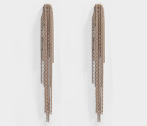 Lange Ohrringe mit Clips Cascade Chain Palace aus Metallic Aluminium