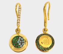 Fine Jewellery Ohrringe - 18K Gold Grelot mit TourmaLeinen und Tsavorit