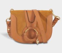 See by Chloé Hana Small Crossbody Tasche aus karamelfarbenem Rindsleder und Wildleder