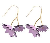Ohrringe mit Blumen aus Leder