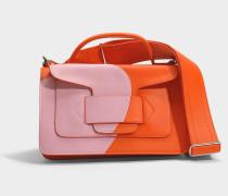 Alpha Handtasche aus rosanem und rotem Kalbsleder