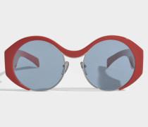 Show Round Sonnenbrille aus Burnt Acetat und Metall