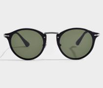 0PO3166S Sonnenbrille aus schwarzem Acetat