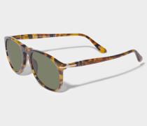 0PO9649S Sonnenbrille aus braunem Acetat
