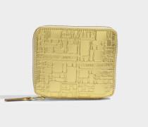 Kleines Portemonnaie mit Reißverschluss mit Punktemuster