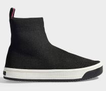 Socket Sneaker Dart aus schwarzem Polyester