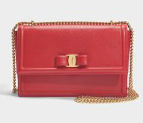 Giny Tasche aus rotem Ritzleder