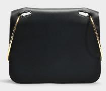 Handtasche Neneh aus schwarzem Kalbsleder