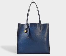 The Grausd Shopper Tasche aus Sea blauem Kuhleder