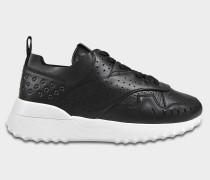 Sportivo Sneaker aus schwarzem Kalbsleder