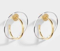 Ohrringe Saturn Small Vermeil und Silber