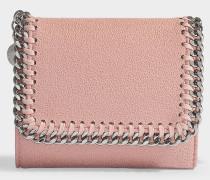 Kleines Continental Wallet Falabella aus Shaggy Deer