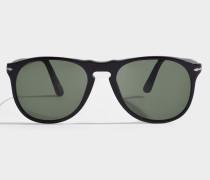 0PO9649S Sonnenbrille aus schwarzem Acetat