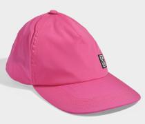 Baseballkappe Stretch aus pinkem Nylon